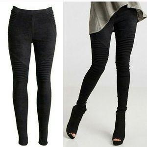 Pants - Last 1! 🌟Black Faux Suede Moto Leggings